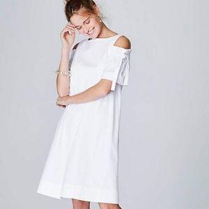 J. Jill White A-Line Open-Shoulder Dress